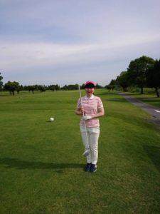 恩師とゴルフ